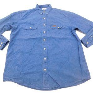 Carhartt LT Blue Button Down Shirt Denim Cotton